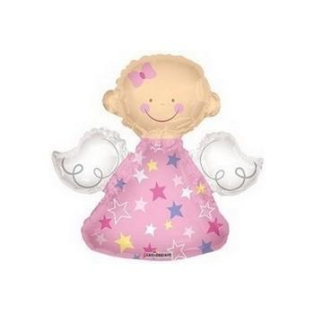 Palloncino Mylar Mini Shape 35 cm. Angel Nino Pink