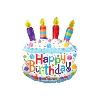 Palloncino Mylar Mini Shape 35 cm. Birthday Cake Mini Shape