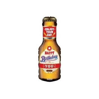 Palloncino Mylar Mini Shape 35 cm. Bottiglia di Birra