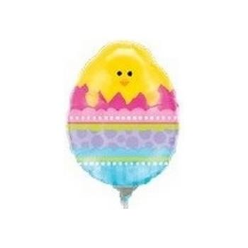 Palloncino Mylar Mini Shape 35 cm. Easter Mini Chick in Easter Egg