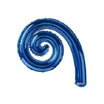 Palloncino Mylar Mini Shape 35 cm. Spirale Blu