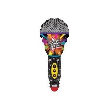 Palloncino Mylar Mini Shape Microphone Rock Star 35 cm.