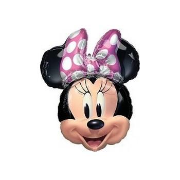 Palloncino Mylar Mini Shape Minnie Mouse Fucsia - 27 cm.