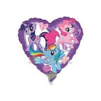 Palloncino Mylar Mini Shape My Little Pony Purple Heart - 22 cm.