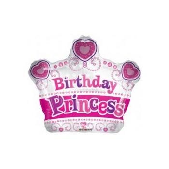 Palloncino Mylar Mini Shape Princess Crown - 30 cm.