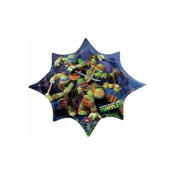 Palloncino Mylar Mini Shape Tartarughe Ninja Teenage Mutant - 22 cm.