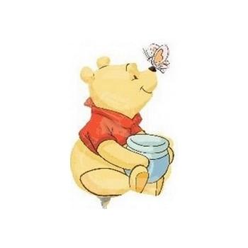 Palloncino Mylar Mini Shape Winnie The Pooh Full Body - 25 cm.