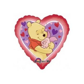 Palloncino Mylar Mini Shape Winnie The Pooh Love Hug - 22 cm.