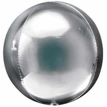 Palloncino Mylar Sfera 24,5 cm. Argento