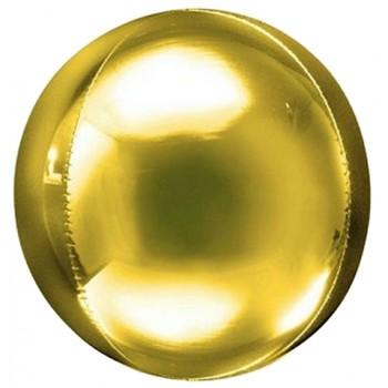Palloncino Mylar Sfera 24,5 cm. Oro