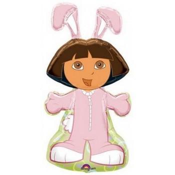 Palloncino Mylar Super Shape 86 cm. Dora Easter Bunny