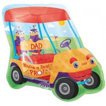 Palloncino Mylar Super Shape 60 cm. Pro Dad Golf Cart