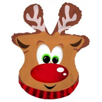 Palloncino Mylar Super Shape 66 cm. Reindeer