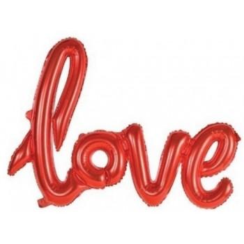 Palloncino Mylar Super Shape 70x60cm. Love Rosso - NO ELIO