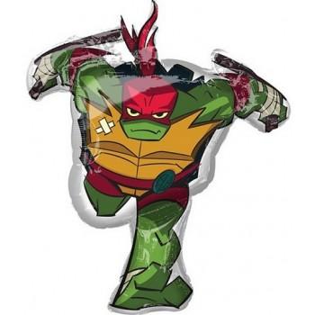 Palloncino Mylar Super Shape 73 x 86 cm Ninja Turtles Raffaello 1