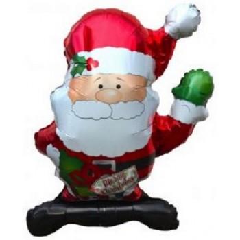 Palloncino Mylar Super Shape 91 cm. Waving Santa