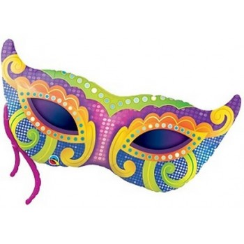 Palloncino Mylar Super Shape 96 cm. Mardi Gras Mask