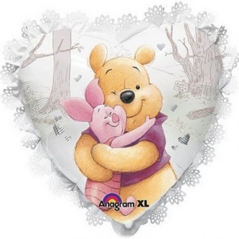 Palloncino Mylar Super Shape55 cm. Pooh & Piglet Hug