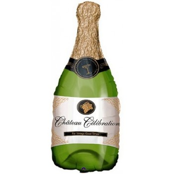 Palloncino Mylar Super Shape91 cm. Champagne Bottle