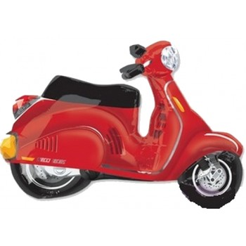Palloncino Mylar Super Shape96 cm. Red Scooter