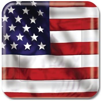 Coordinato America - Piatto Carta 17 cm. - 8 pz.