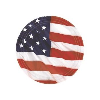 Coordinato America - Piatto Carta 18 cm. - 8 pz.