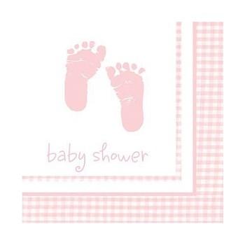 Coordinato Baby Shower Bambina - Tovagliolo 25x25 cm. - 16 Pz.