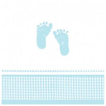 Coordinato Baby Shower Bambino - Tovaglia Plastica 121x223 cm.