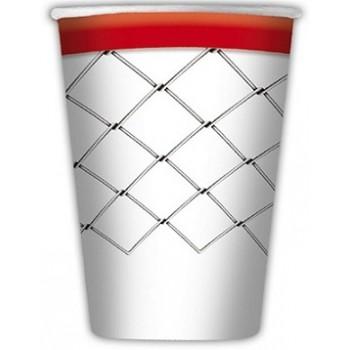 Coordinato Basket - Bicchiere Carta 200 ml. - 8 Pz.