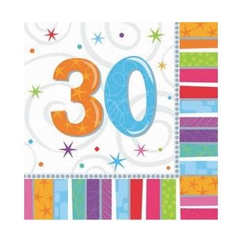 Coordinato Buon Compleanno Radiant - Tovagliolo 33x33 cm. 30° - 16 pz.