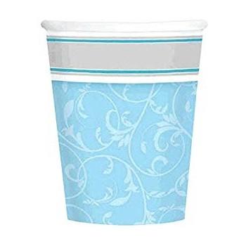 Coordinato Elegant Azzurro - Bicchiere Carta 266 ml. - 8 pz.
