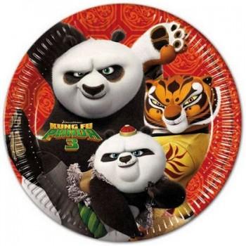 Coordinato Kung-Fu Panda- Piatto Carta 23 cm. - 8 pz.