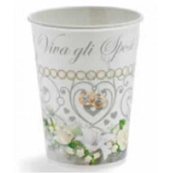 Coordinato Matrimonio - Bicchiere Carta 200 ml. - 10 pz.