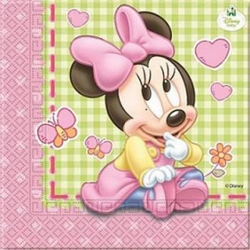 Coordinato Minnie Baby - Tovagliolo 33x33 cm. - 20 pz.
