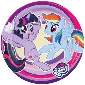 Coordinato My Little Pony - Piatto Carta 18 cm. - 8 pz.