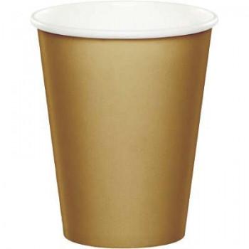 Coordinato Oro - Bicchiere Carta 266 ml. - 8 pz.