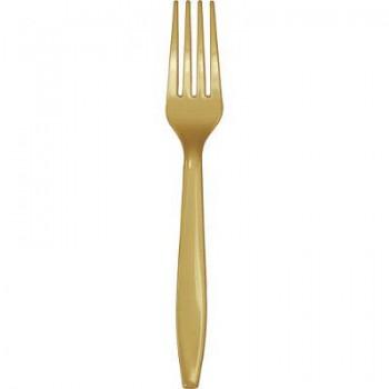 Coordinato Oro - Forchetta Plastica - 24 pz.