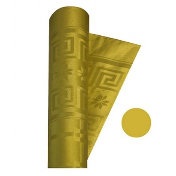 Coordinato Oro - Tovaglia Damascata in Carta - 20 x 7 mt.