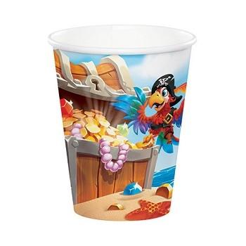 Coordinato Pirati Pirate Treasure - Bicchiere Carta 266 ml. - 8 pz.