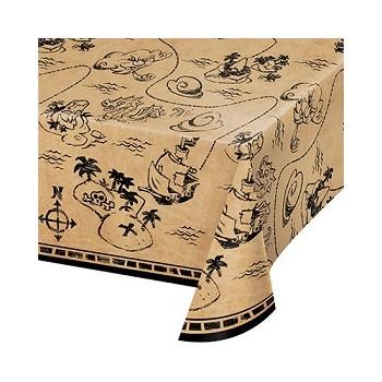 Coordinato Pirati Pirate's Map - Tovaglia Carta 137x259 cm.