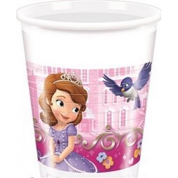Coordinato Principessa Sofia Buon Compleanno - Bicchiere Plastica 200 ml. - 8 pz.