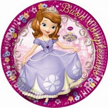 Coordinato Principessa Sofia Buon Compleanno - Piatto Carta 23 cm. - 8 pz.