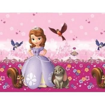 Coordinato Principessa Sofia Buon Compleanno - Tovaglia Plastica 120x180 cm.