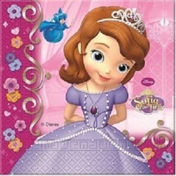 Coordinato Principessa Sofia Buon Compleanno - Tovagliolo 33x33 cm. - 20 pz.