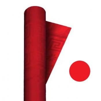 Coordinato Rosso - Tovaglia Damascata in Carta - 20 x 7 mt. -