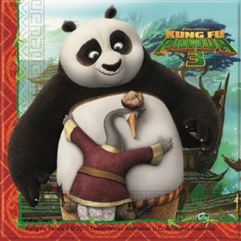 Kung-Fu Panda - Tovagliolo 33x33 cm. Coordinato - 20 pz.