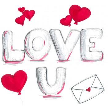 Biglietti Auguri - Amore LOVE YOU15,5 x 15,5 cm.