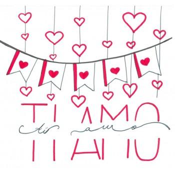 Biglietti Auguri - Amore TI AMO 15,5 x 15,5 cm.
