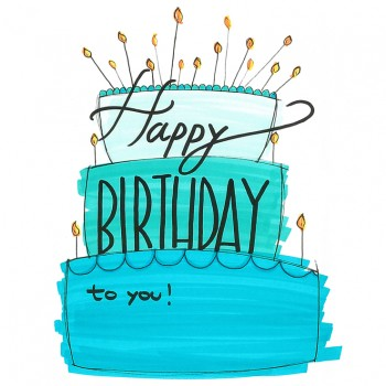 Palloncino Mylar 45 cm. 60° Happy Birthday Blue Dazzeloon
