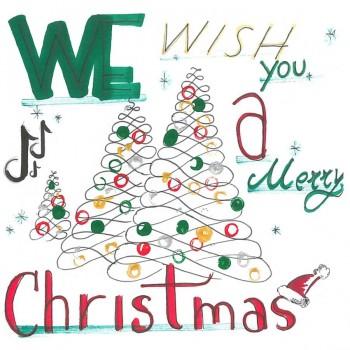 Biglietti Auguri - We wish you a Merry Christmas 15,5 x 15,5 cm.